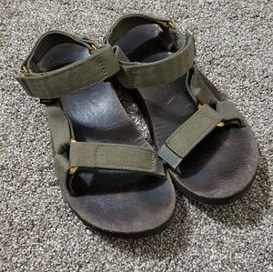 Teva 8 Olive Green Brow Adjustable Outdoor Sandals